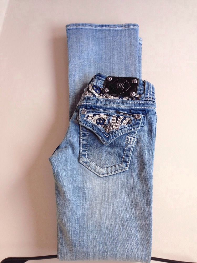 c1282991135 Miss Me Jeans Sz 24 W/ 32 Inseam Paisley Flap Pocket Boot Cut Women EUC  #MissMe #BootCut