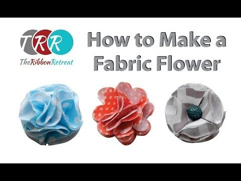 d69ed98b72f How to Make a Fabric Flower - TheRibbonRetreat.com - YouTube. Using this to  make lapel pins for hubby.