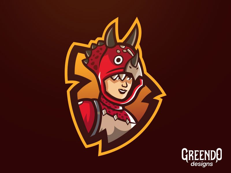 Fortnite Tricera Ops Mascot Logo With Images Game Logo Mascot