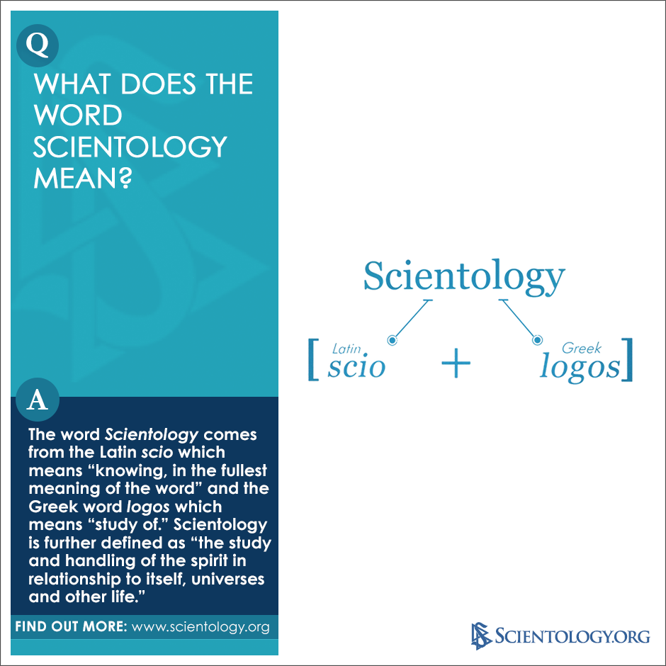 what does the word scientology mean the word scientology comes from