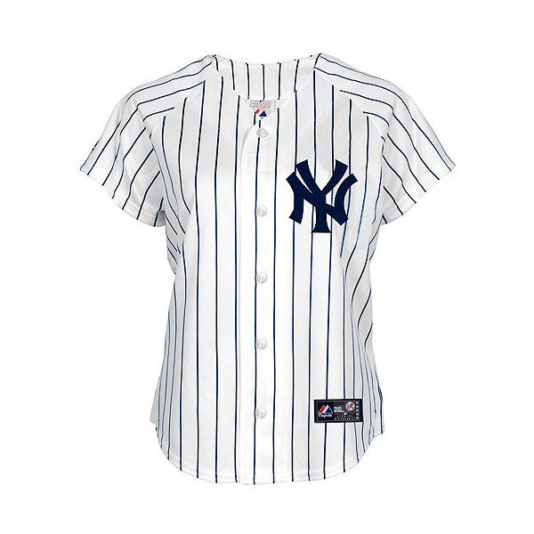 4be3dc927 New York Yankees Women s PLUS SIZE Replica Jersey by Majestic Athletic  ( 75) ❤ liked on Polyvore featuring tops