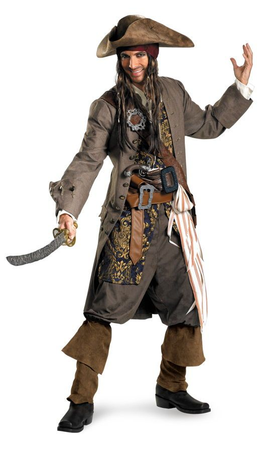 Buy Jack Sparrow Rental Quality Costume DG29859 Halloween Costumes