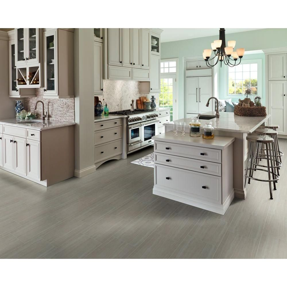 Ms International Cappuccino 12 In X 12 In Polished: MSI Classico Blanco 12 In. X 24 In. Glazed Porcelain Floor