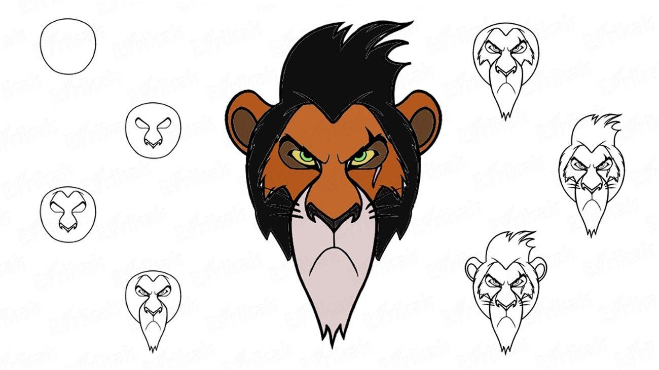 Jak Narysowac Skaze Bohatera Filmu Animowanego Krol Lew Kolorowanka Disney Drawings Drawings Draw