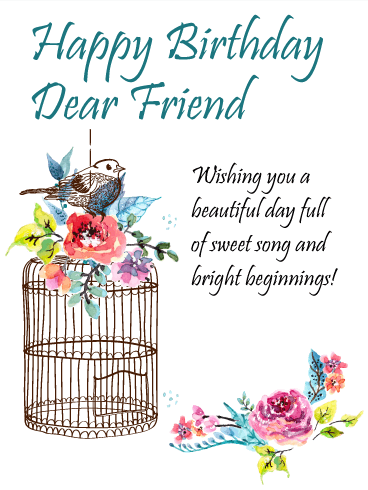 To The Sweetest Friend Happy Birthday Card A Little Bird Told Me