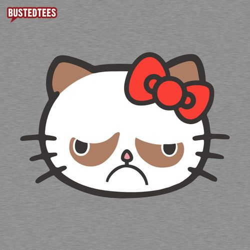 Grumpy hello kitty