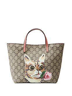f7c67e27190 Gucci - Girl s GG Supreme Cat Tote