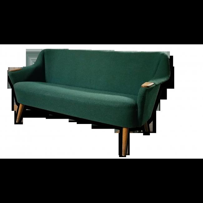 Petit Canapé années 50 vintage dans le style Hans Wegner dimensions ...