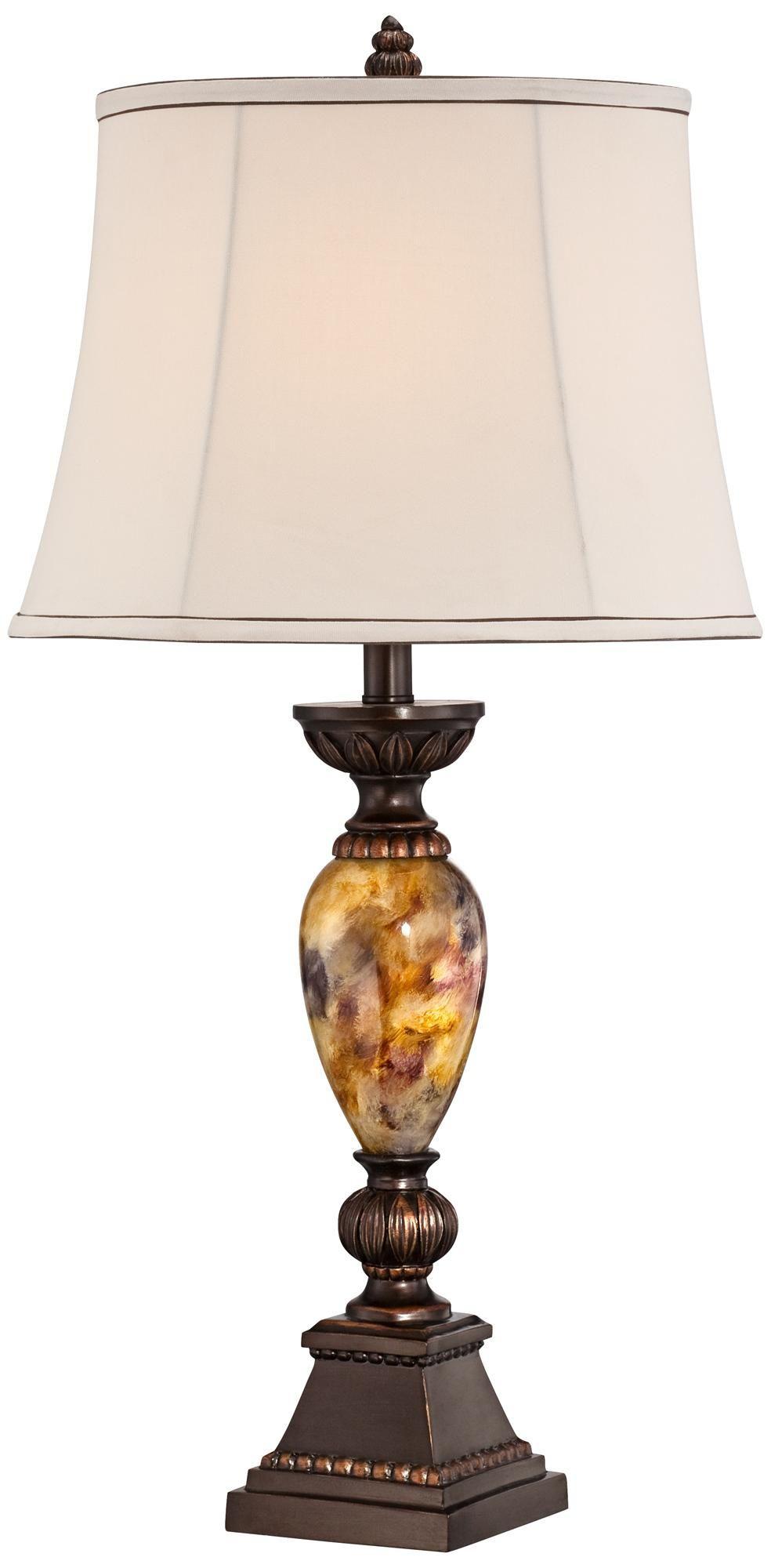 Kathy ireland home mulholland 30 marbleized table lamp