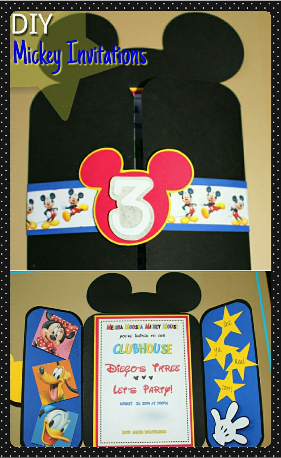 DIY Mickey Invitations | Mickey invitations, Mickey mouse and ...