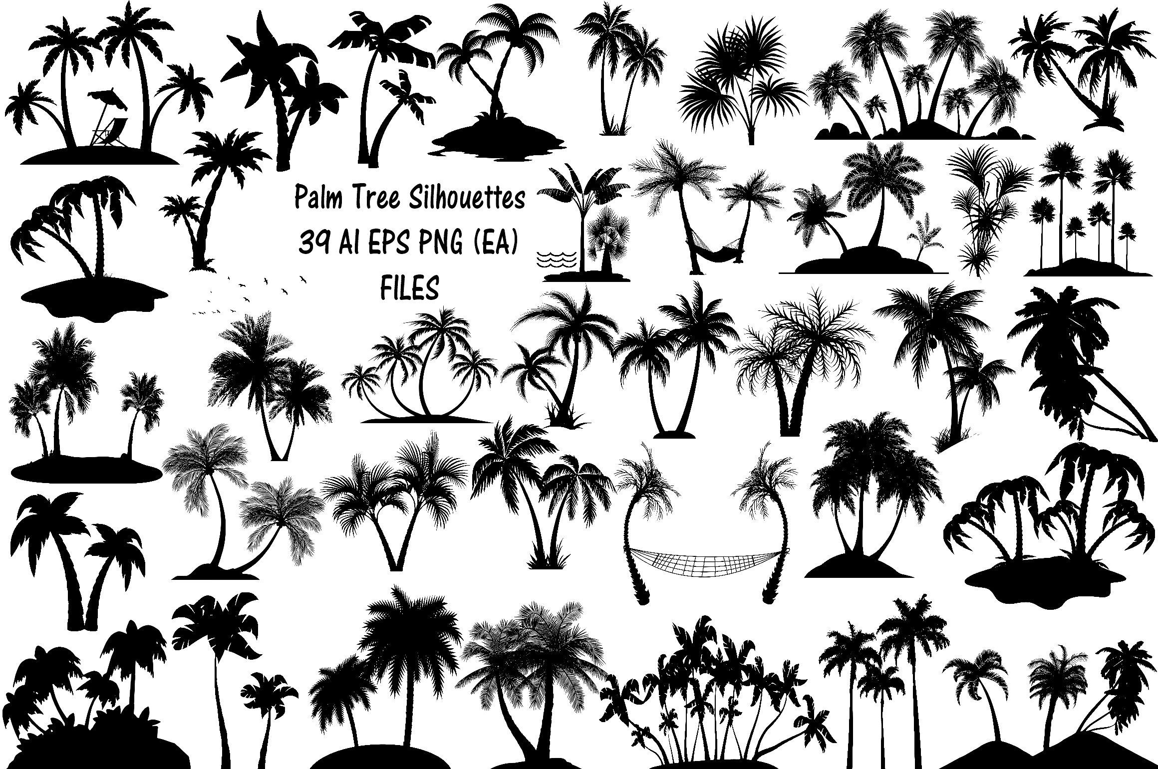 Palm Tree Silhouettes Ai Eps Png Palm Tree Clip Art Tree Silhouette Tattoo Palm Tree Silhouette