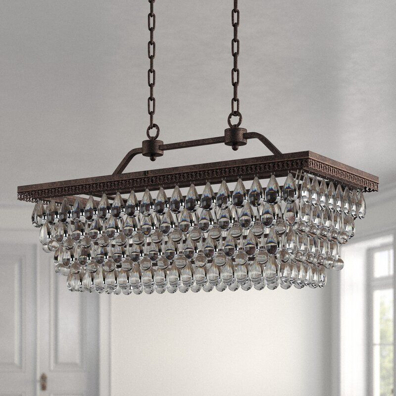 Tyshawn 6 Light Unique Tiered Chandelier With Crystal Accents Chandelier Light Crystals