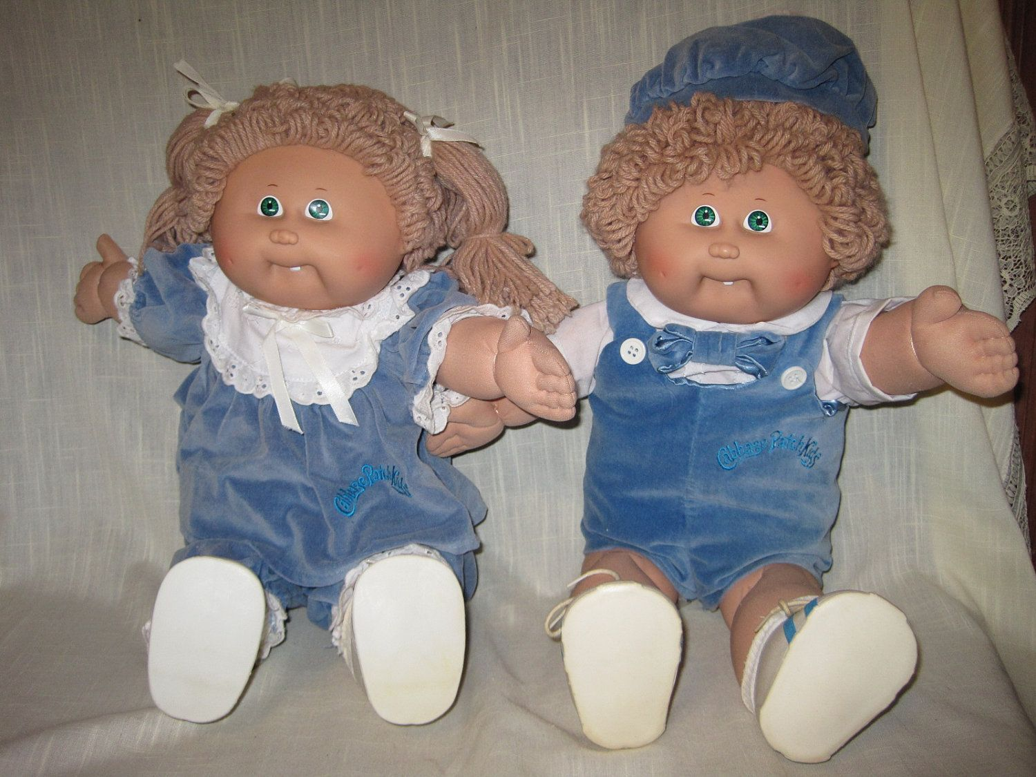1980s Cabbage Patch Dolls Vintage 1980s Coleco Cabbage Patch Twins One Boy Doll One Girl Doll Cabbage Patch Dolls Cabbage Patch Boy Doll