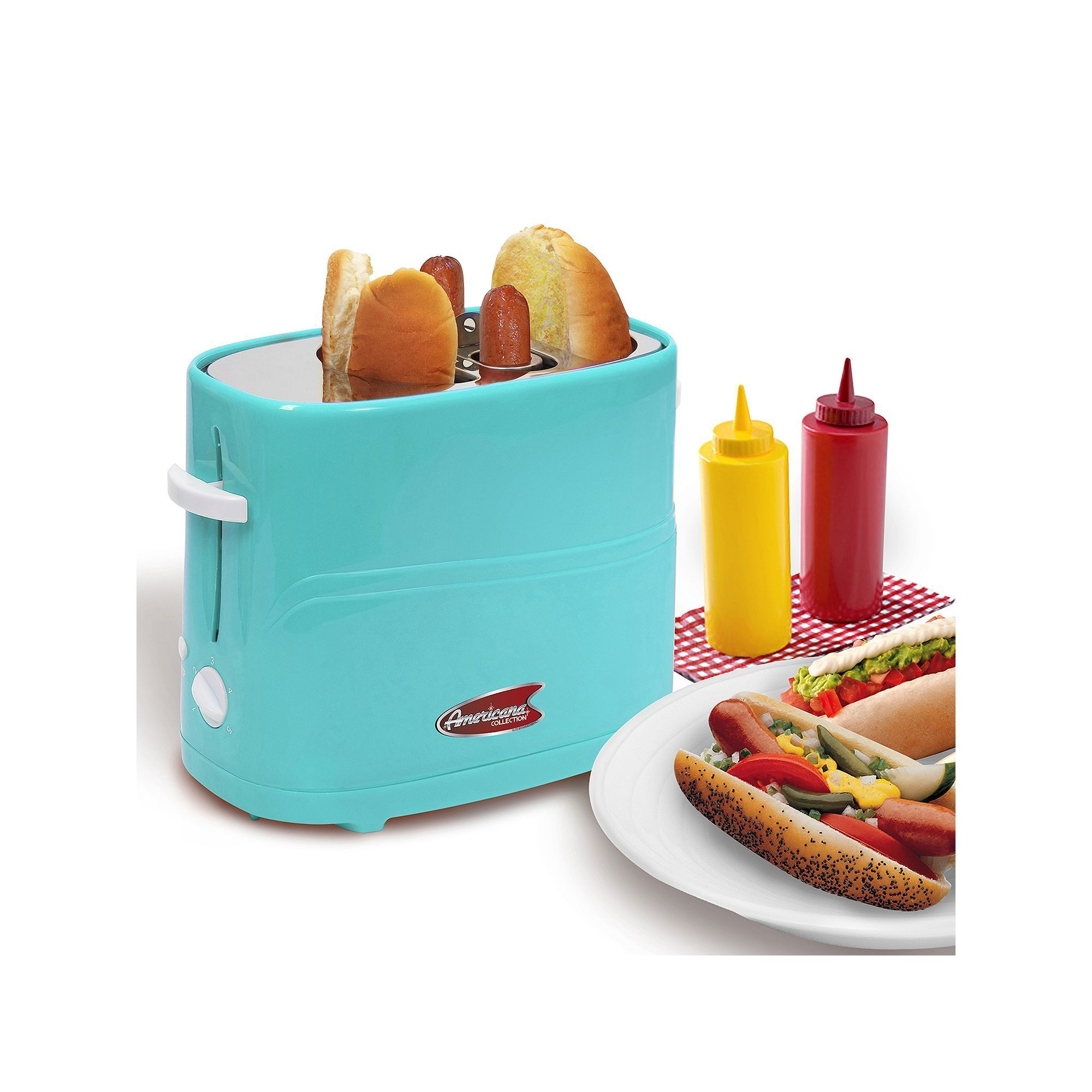 Elite Cuisine Hot Dog Toaster, Red | Dogs, Toaster and Hot dogs