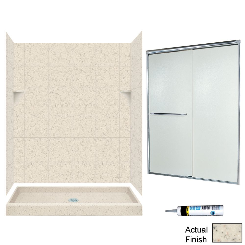 Swan Solid Surface 60 In X 34 In X 72 In 5 Piece Alcove Shower Kit