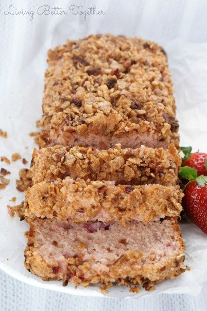 Strawberry Ice Cream Bread - Sugar & Soul