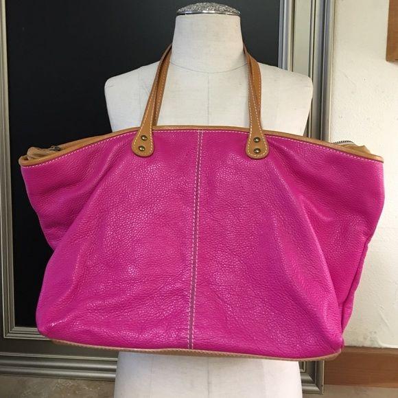 Hot Pink Italian Leather Handbag My Posh Picks Pinterest