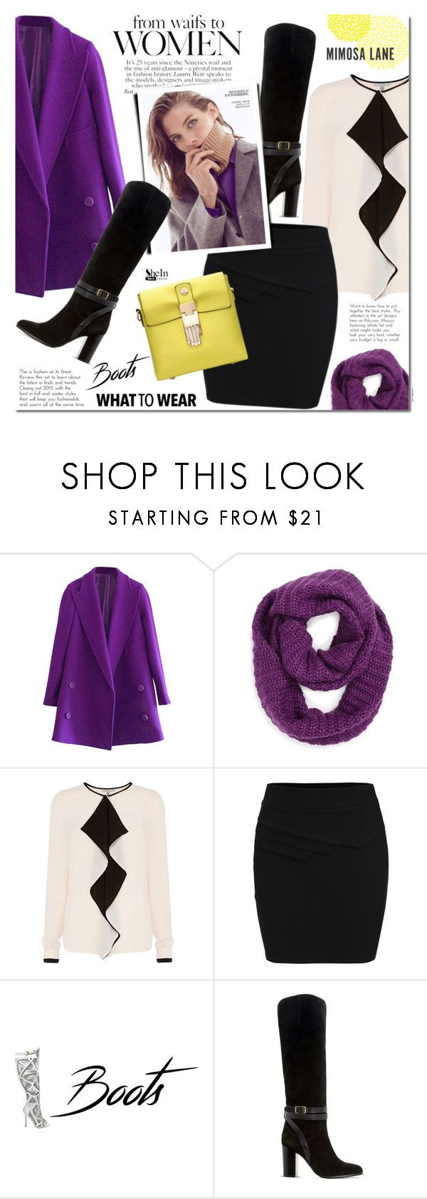 """""""A little bit of purple"""" by mada-malureanu ❤ liked on Polyvore featuring Collection XIIX, Coast, Dune, Sheinside and shein"""