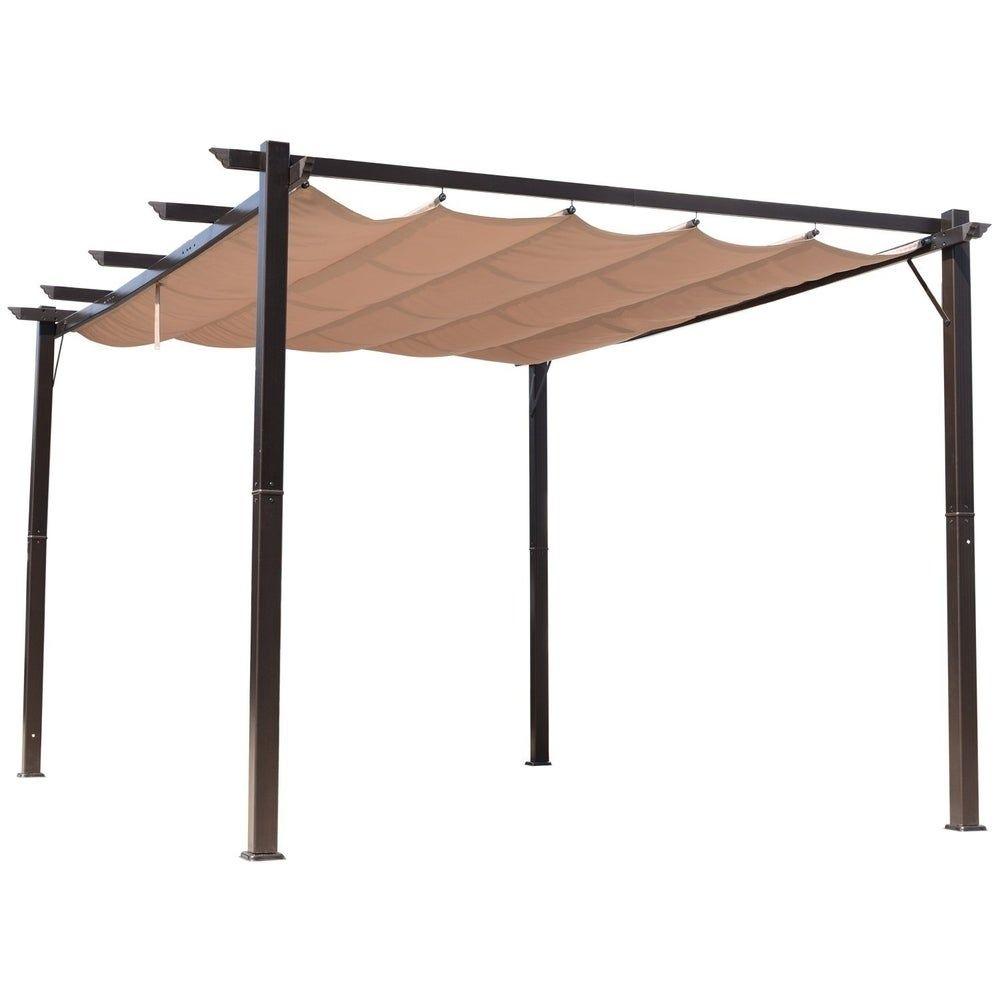 Outsunny 10 X 13 Steel Outdoor Patio Pergola Gazebo Backyard Canopy Cover Uv Protected Polyester Fabric Br In 2020 Aluminum Pergola Backyard Canopy Patio Canopy