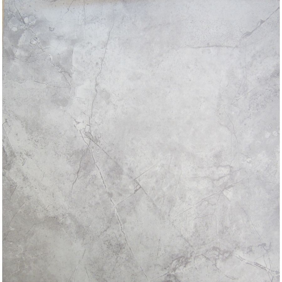 Chilo Gray Ceramic Floor Tile Common 18 In X 18 In Actual X Downstairs