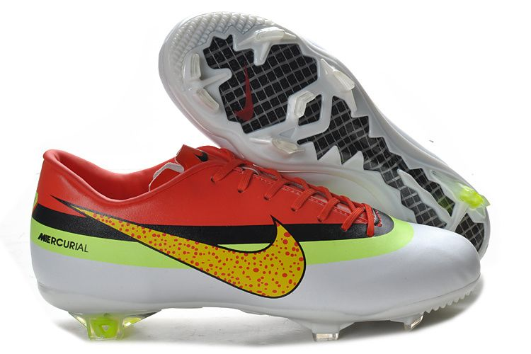 Cheap Nike Mercurial Vapor IX FG CR exclusive personal tyle 2013 New Red  White Yellow Nike Mercurial Vapor Superfly Football Boots Store