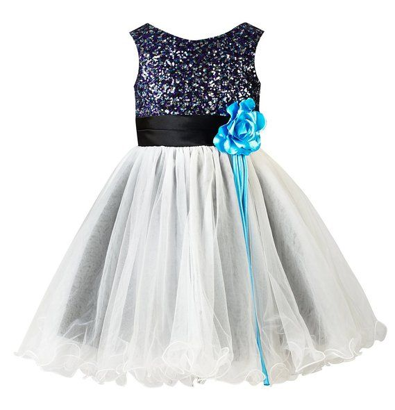 7f3f886a3 Amazon.com: Thstylee Girl's Sequin Tulle Flower Girl Dress Junior  Bridesmaid Dress: Clothing