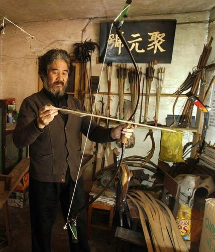 """Bow Maker a Last Link to China's Past"" -     ""...Our craft can only be learned by a teacher guiding your hands with his hands. We don't have a blueprint or machines... It depends entirely on the craftsman's experience and intuition."