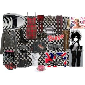 http://www.polyvore.com/london_punk_77/set?id=16180989  A style set I made for one of my favorite music genres and fashion style. UK Punk 1977
