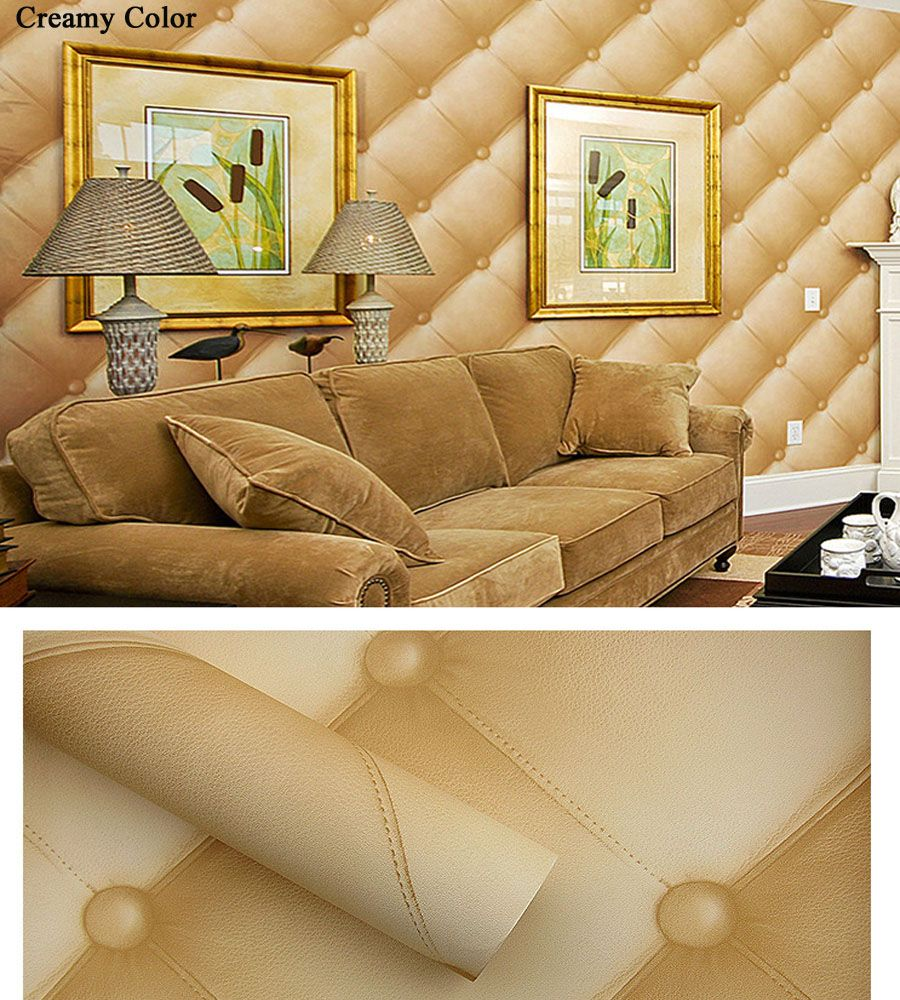 Painting Supplies & Wall Treatments Wallpapers United Custom Wall Mural Wallpaper European Style 3d Stereoscopic Golden Ball Soft Pack Imitation Leather Photo Wallpaper Living Room