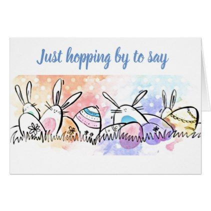 Easter Wishes From Cute Easter Egss For You Card  Holiday Card