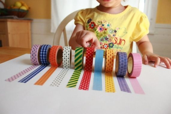 Ideas for fun with washi tape/printed masking tape
