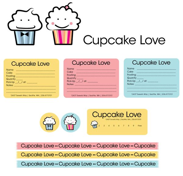 Cupcake Love By Sarah Johnson Via Behance Punch Card Order Form