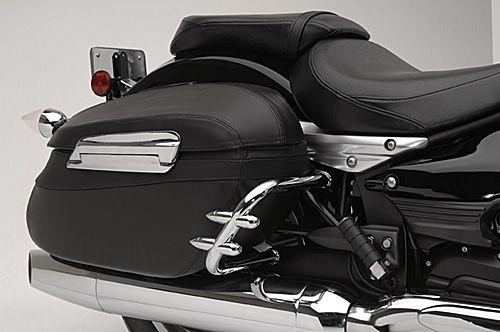 Star yamaha accessories saddlebag guards yamaha xv1900 for Yamaha raider hard saddlebags