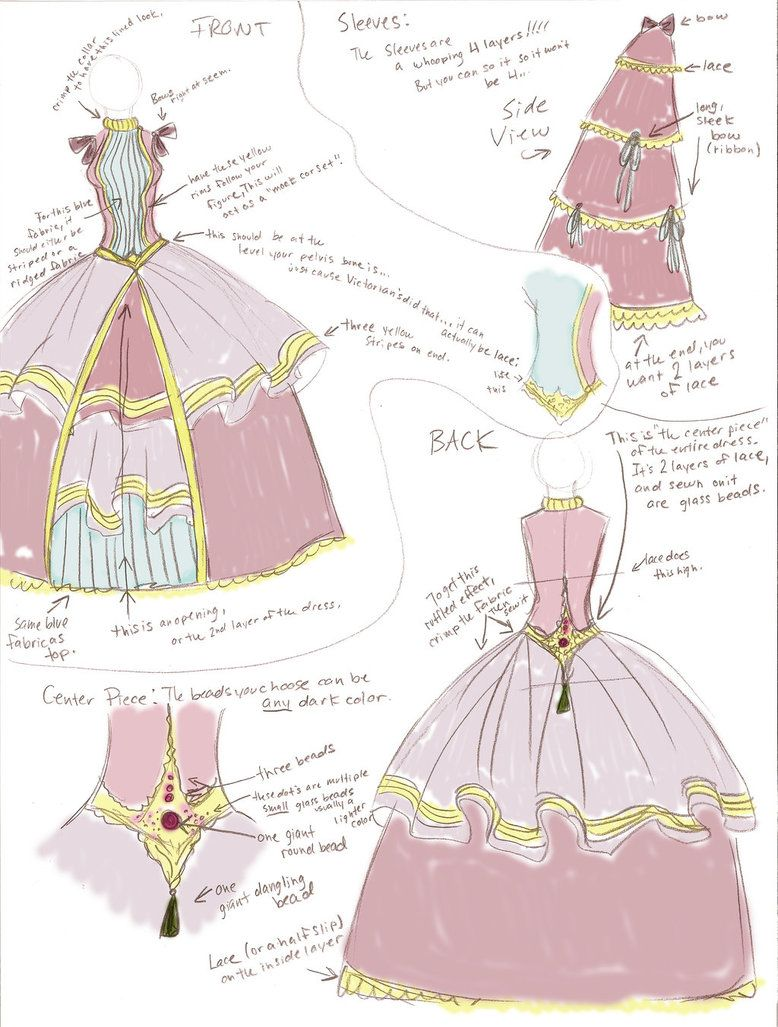 Victorian Dress Sketch | Victorian | Pinterest | Victorian dresses ...