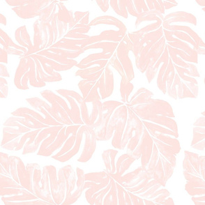 Jungle MonsteraLeaves_pink in 2020 Pink wallpaper