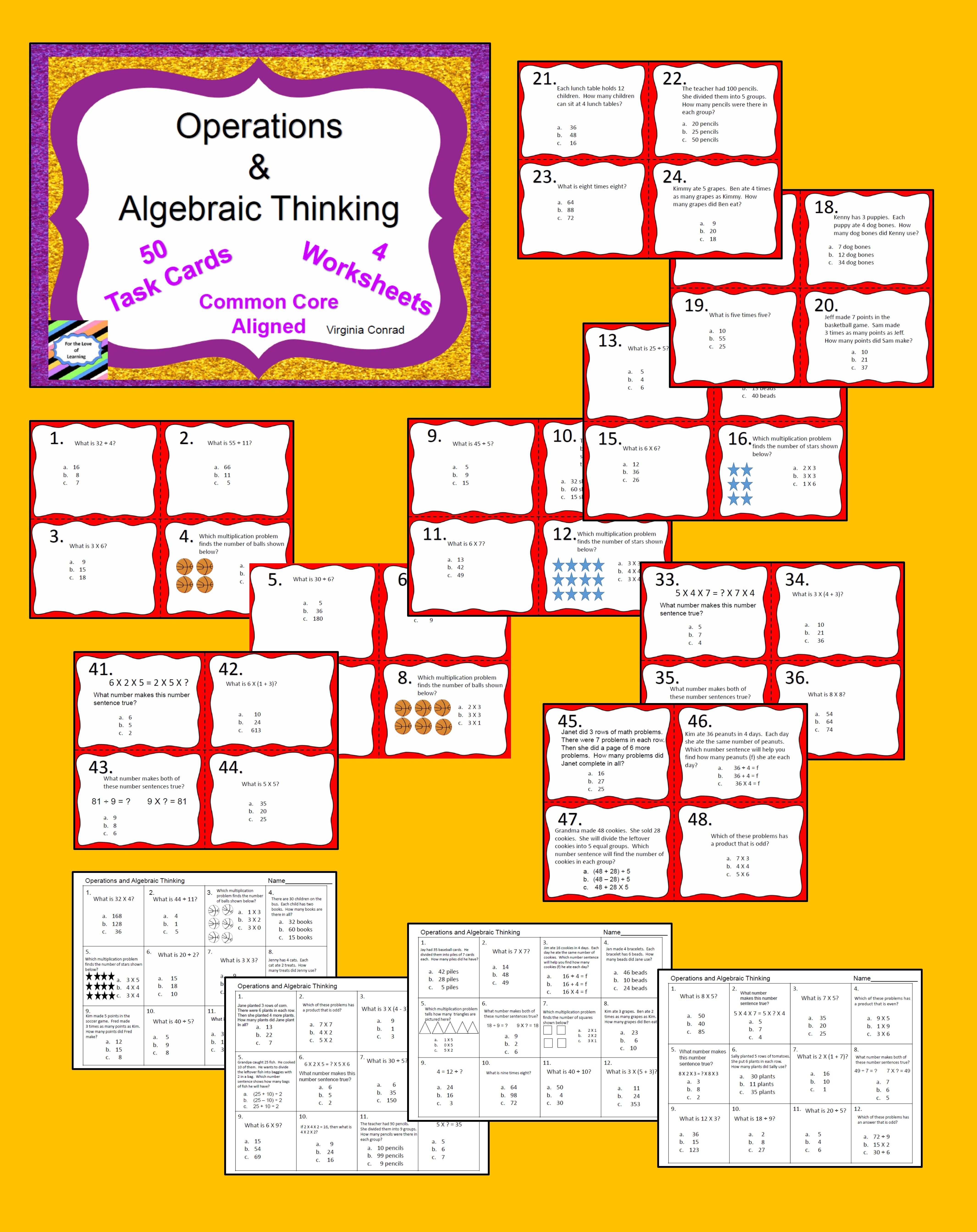 Operations And Algebraic Thinking Common Core Third