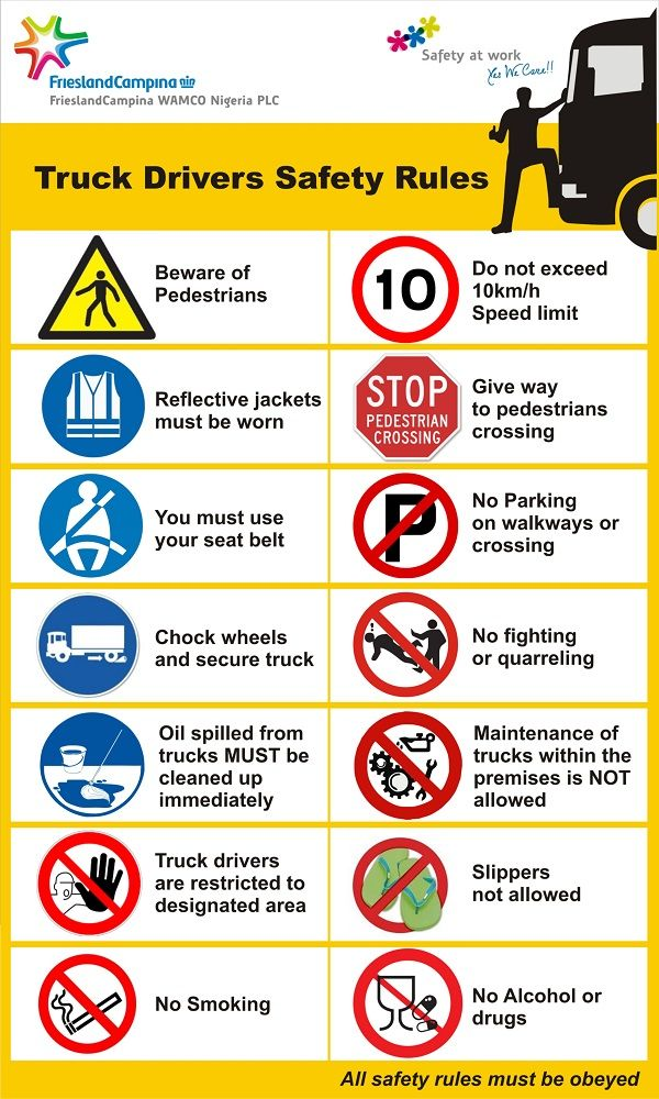 Truck Safety Safety Posters Health And Safety Health And Safety Poster