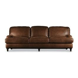 English Roll Arm Leather Sleeper Sofa Traditional Beds Restoration Hardware