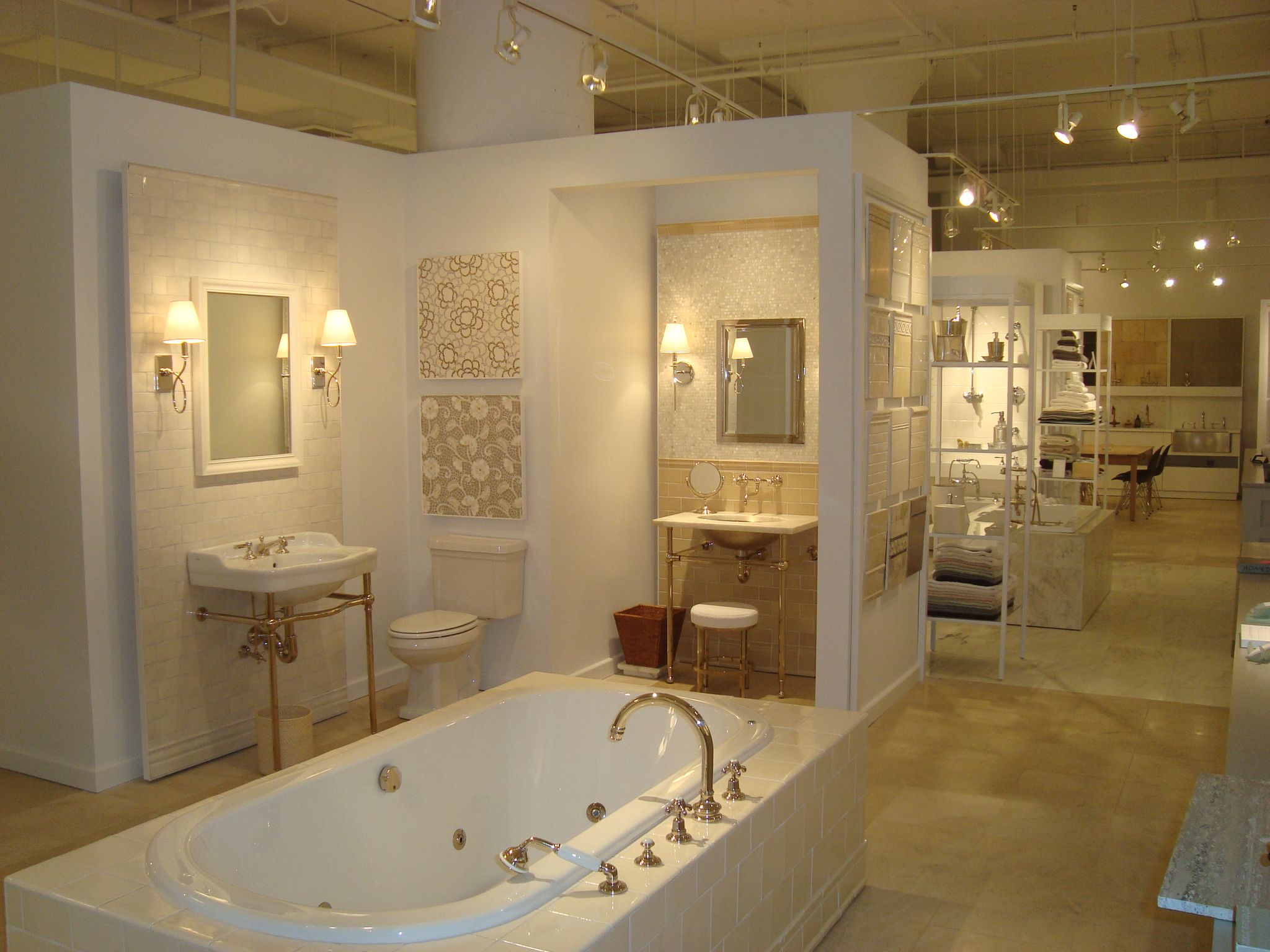 Bathroom Design Showrooms Waterworks Boston Design Center Showroom Display Waterworks
