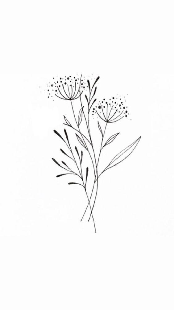 Queen Annes Spitze #flowertattoos – Brenda O. cat me tattoo #flowertattoos