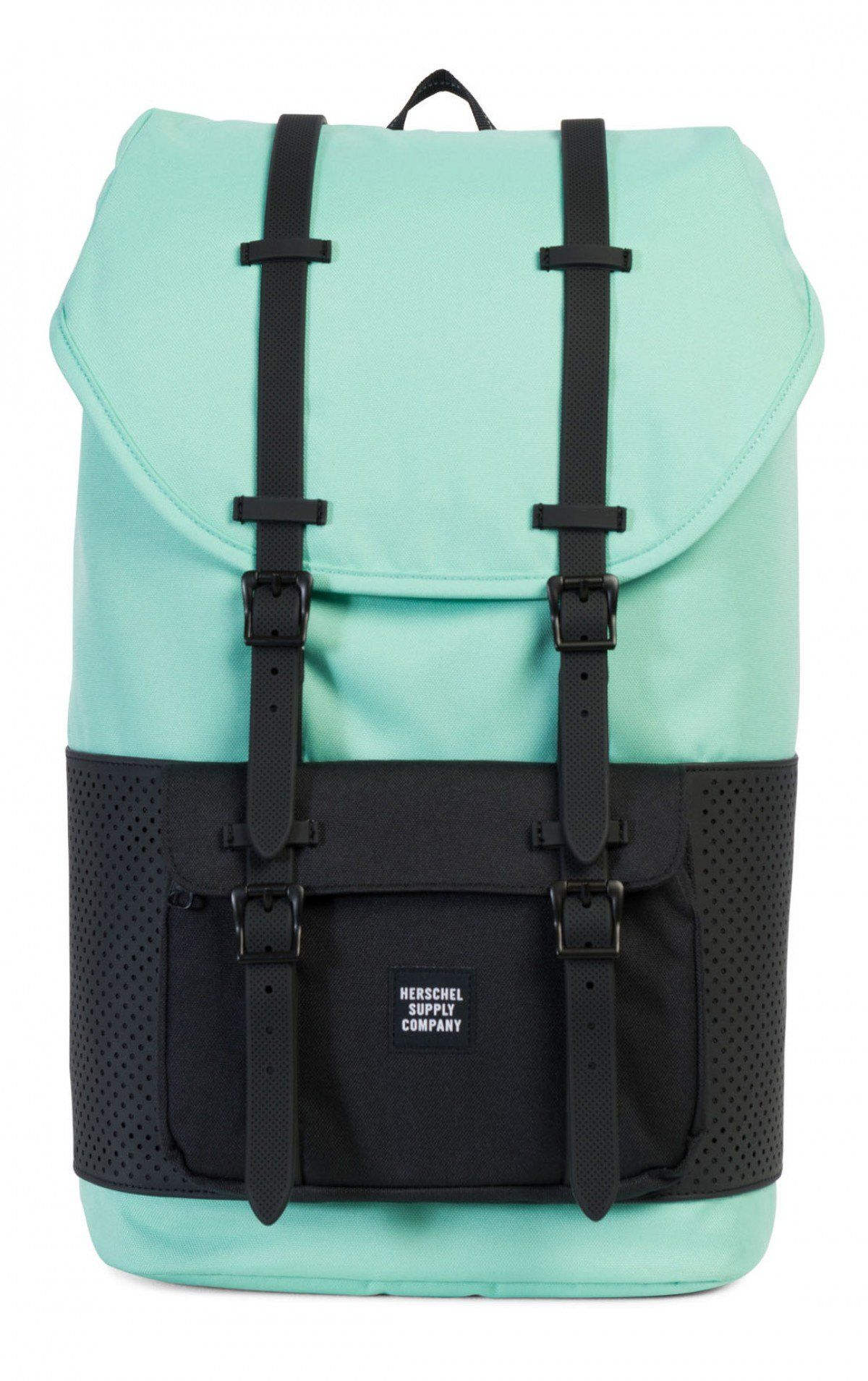 Herschel Little America Backpack Aspect Poly Lucite Green Black ... 0c6323ec2fdbf