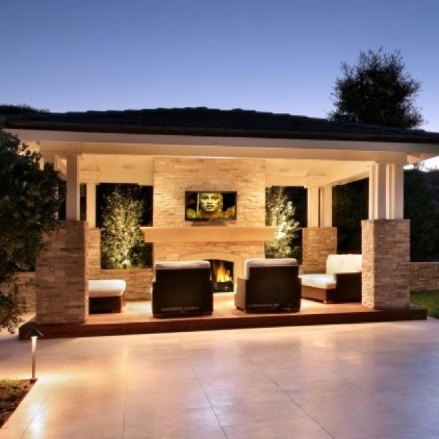 Covered Backyard Space Designs: Outdoor Living Rooms, Outdoor