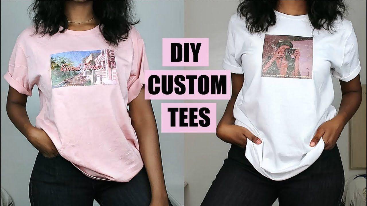Diy Custom Print T Shirts No Transfer Paper 1000 Diy T Shirt Printing Custom Shirts Diy Diy Shirt