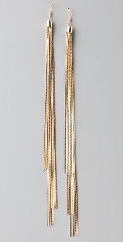 Cool By Malene Birger Golden Hair Oreck Earrings Bop