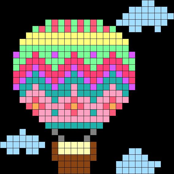 Hot Air Balloon Perler Bead Pattern Bead Sprite Cross Stitch