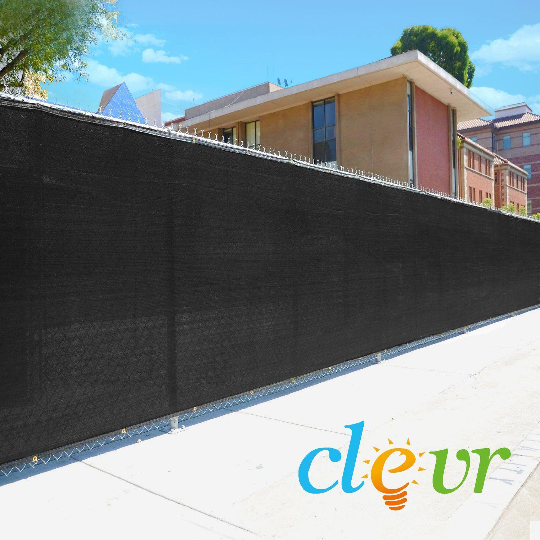 6' x 50' Fence Windscreen Privacy Screen Cover, Black Mesh ...