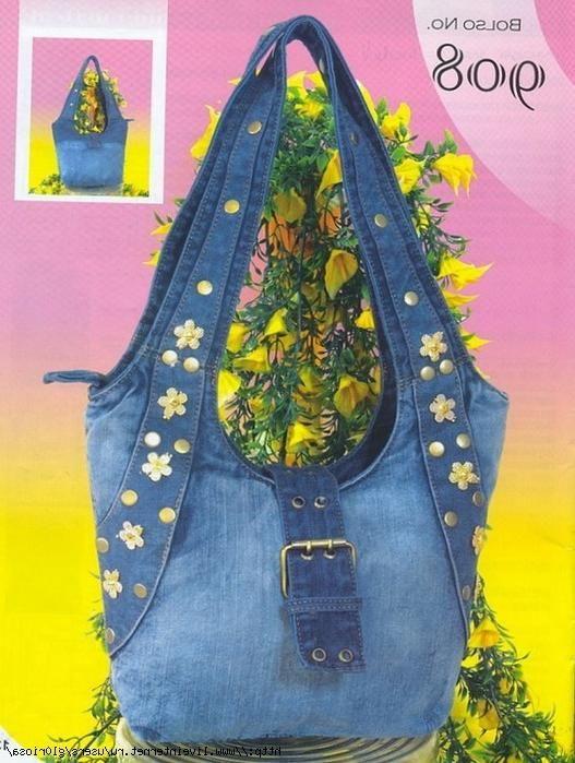 Джинсовые сумки своими руками фото