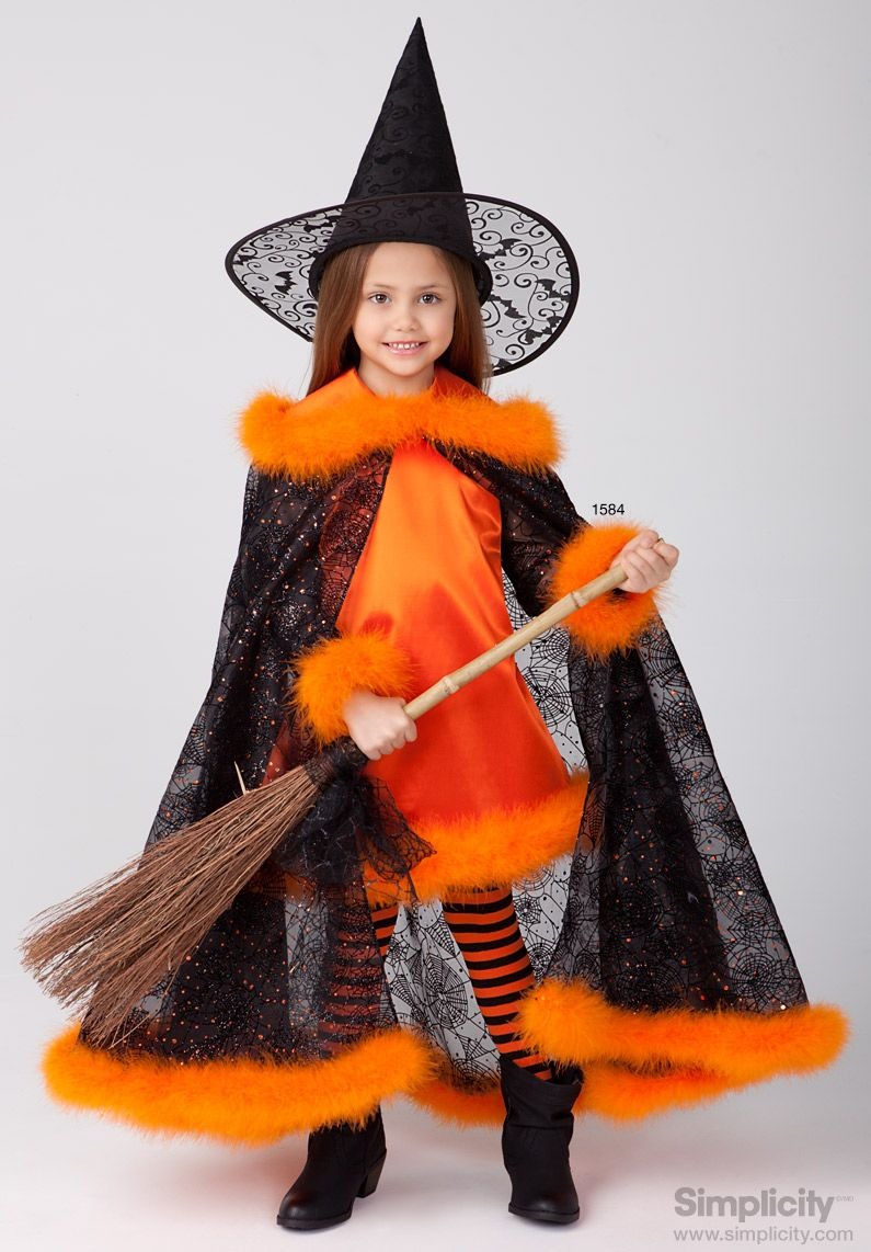 Orange and Black Witch Costume - perfect for your child this ...