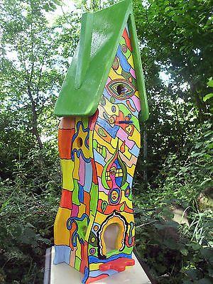 Vogelvilla Vogelhaus Nistkasten Hundertwasser Stil Dekoration Ebay Vogelvilla Hundertwasser Vogelhaus