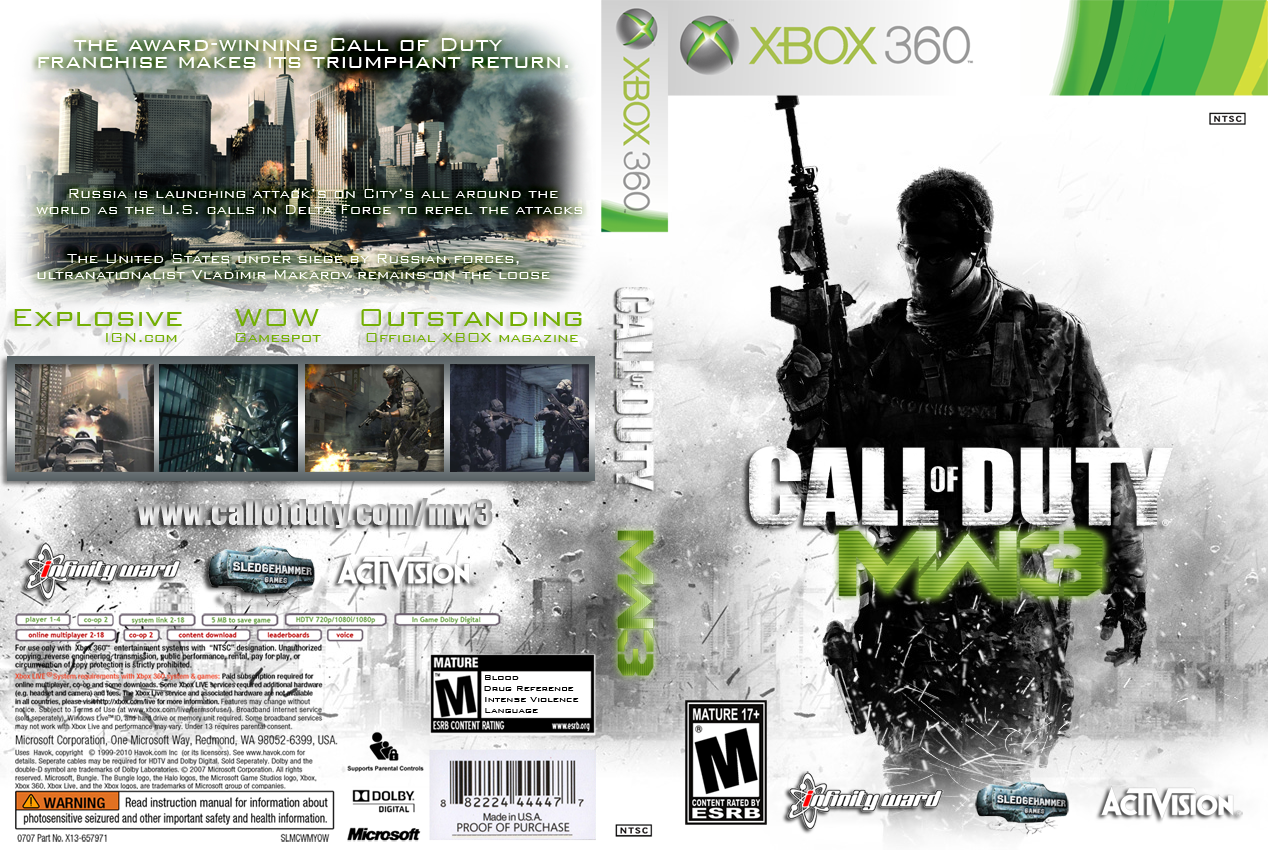 Xbox 360 Call Of Duty Modern Warfare 3 Call Of Duty Modern Warfare Warfare